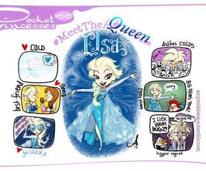 elsa, pocket princesses, and disney image