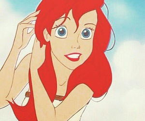 ariel, disney, and hair image
