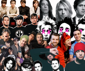 ac dc, blink-182, and fall out boy image