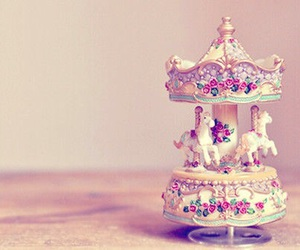 horse, vintage, and carousel image