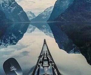 travel, lake, and mountains image