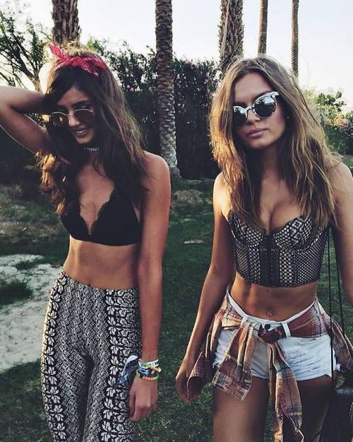 coachella, friends, and model image