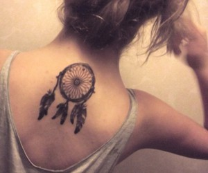 back, beauty, and dreamcatcher image