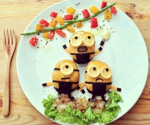 cool, foods, and minions image