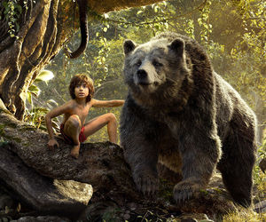 movie, the jungle book, and mogli image