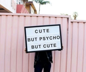 cute, pink, and Psycho image
