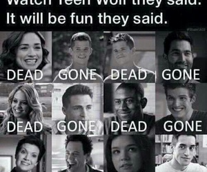 teen wolf, dead, and gone image