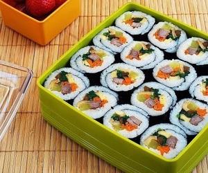 food, sushi, and korean image