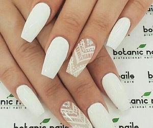 nails, white, and nail art image