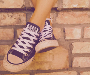 converse, converse all star, and girl image