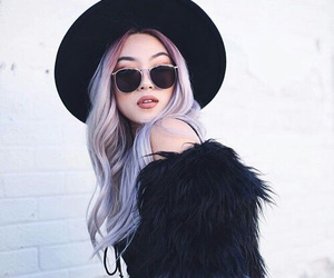 hair, fashion, and purple image