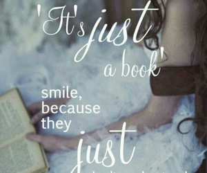book, smile, and reading image