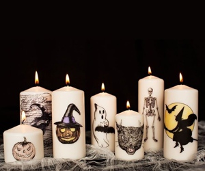 Halloween, candle, and autumn image