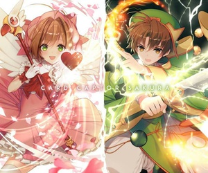 sakura, captor, and shaoran image