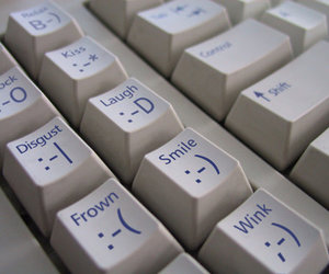 smile, keyboard, and smiley image