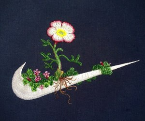 nike, flowers, and aesthetic image