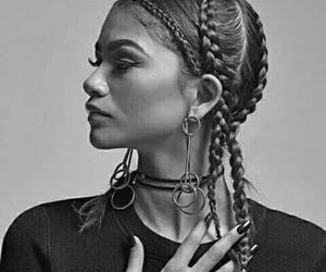 zendaya, braids, and model image