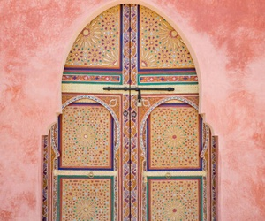 pink, door, and morocco image
