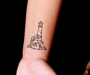 lighthouse, tatouage, and tattoo image