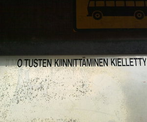 bus stop, finnish, and kyltti image