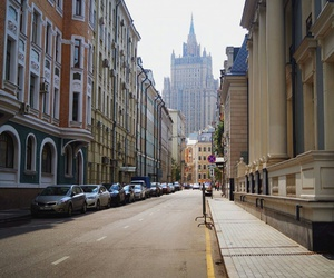 buildings, city, and moscow image