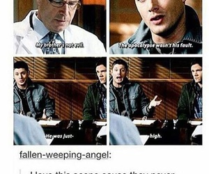 funny, supernatural, and apocalypse image