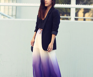 fashion, ombre, and skirt image