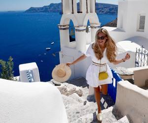 girl, Greece, and Island image