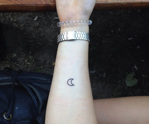 crescent, moon, and outline image