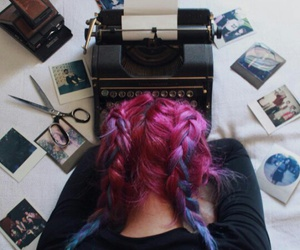 braids, hair, and colorful image