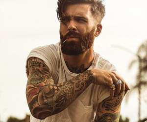 tattoo, beard, and boy image