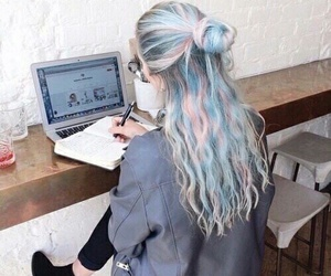 hair, hairstyle, and grunge image