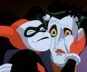 joker, harley quinn, and batman image