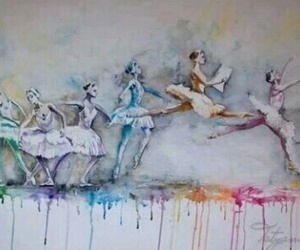 art, ballet, and colorful image