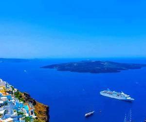 Greece, santorini, and ships image