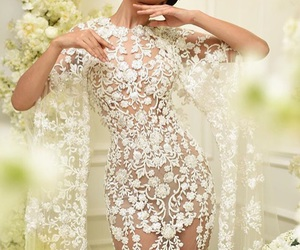 bride, chic, and dress image