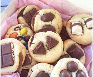 chocolate, Cookies, and dough image