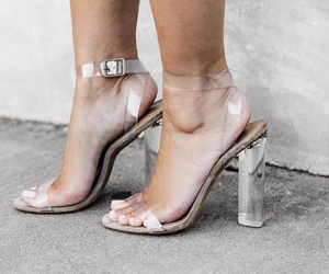 clear, fashion, and heels image