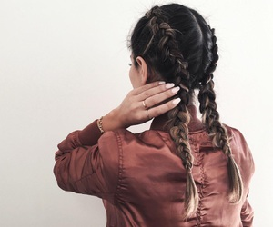 beauty, braids, and hair image