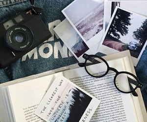 book, glasses, and grunge image