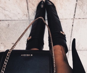 style, black, and boots image