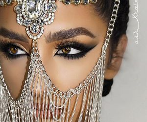 arabic, makeup, and beauty image