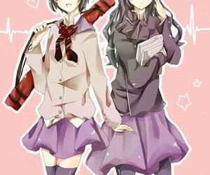 rin, yukio, and genderbend image