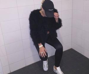 cap, fashion, and faux fur image
