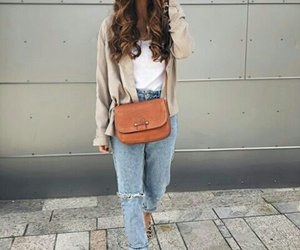 jeans, outfit, and smile image