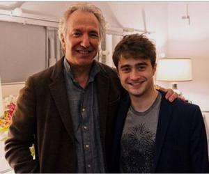 alan rickman, harry potter, and daniel radcliffe image