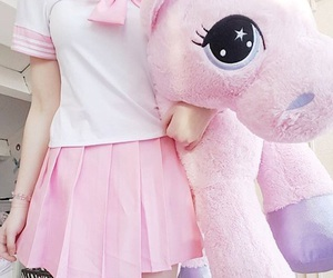 kawaii, pink, and unicorn image