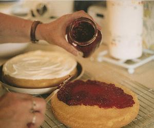 cake, food, and jam image