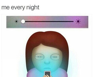 night, phone, and funny image