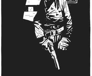 hellboy, illustration, and ink image